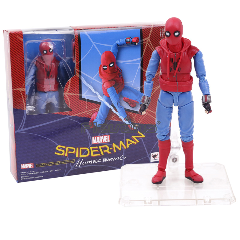 SHF S. H. Figuarts Örümcek Adam Homecoming Spiderman Ev Made Suit Ver. PVC Action Figure Oyuncak