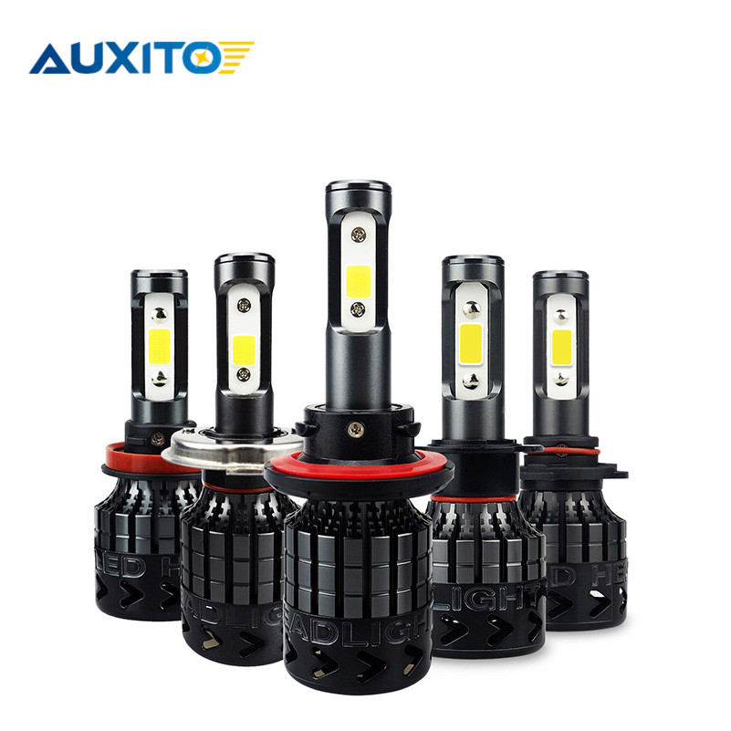 2 pcs AUXITO LED H7 H4 H13 H11 H1 9005 9006 9004 9007 9012 LED Far 72 W 16000LM Araba LED far ampulü Sis Işık 6500 K 12 V