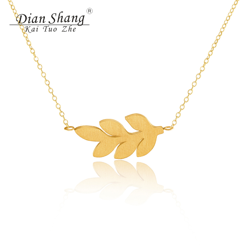 Wholesale 10PCS Stainless Steel Branch Tree Leaf Necklaces & Pendants Women Vintage Jewelry 2017 Top Quality Collares Bijoux Bff