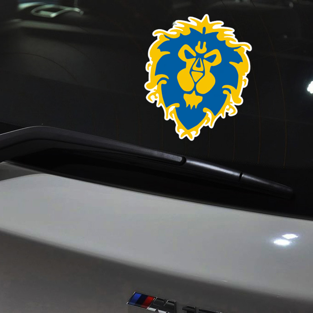 World of warcraft Lionhead Için Yansıtıcı Araba Sticker Ve Decla ford focus 2 honda volkswagen polo skoda golf opel kia Toyota