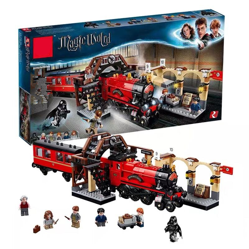 Yeni fit Harry Potter Legoinglys Hogwarts Express Set Tren Yapı Taşları Tuğla Çocuklar boys Oyuncaklar için noel hediyesi ile rakamlar